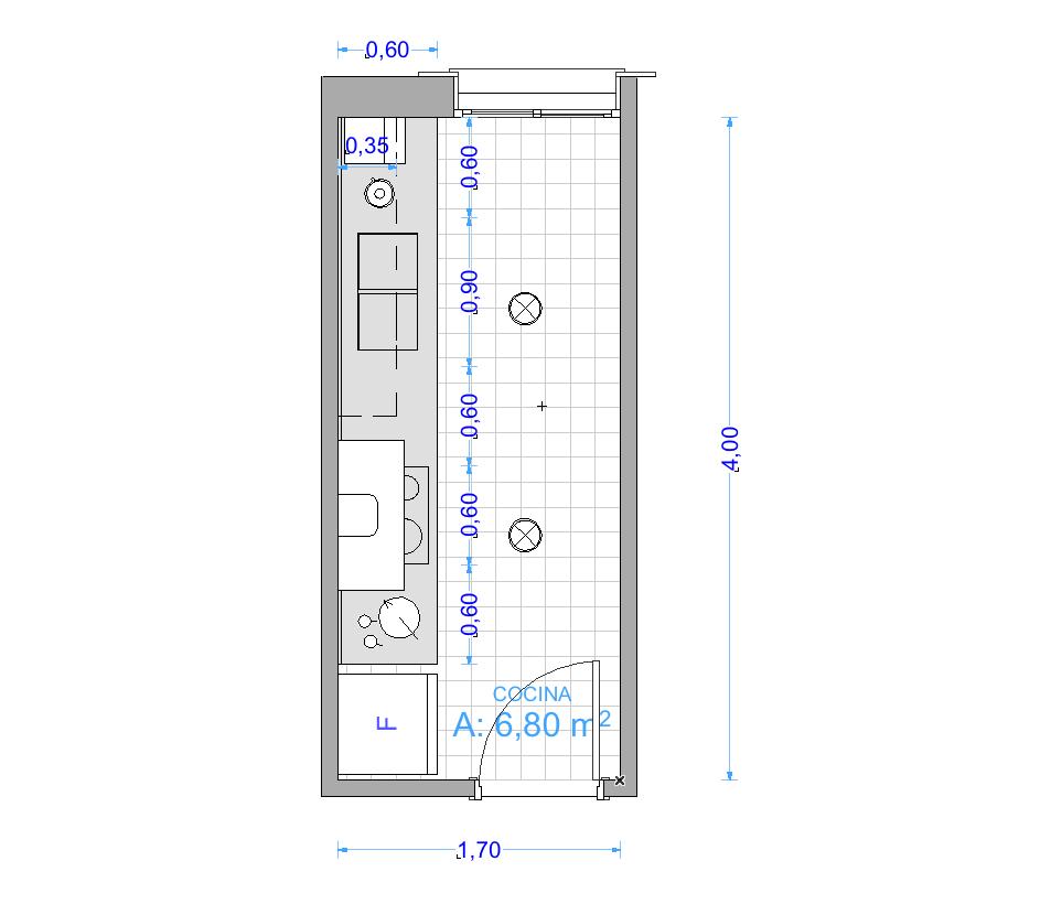 garquitectos cuanto mide una cocina ForCocina Medidas Minimas